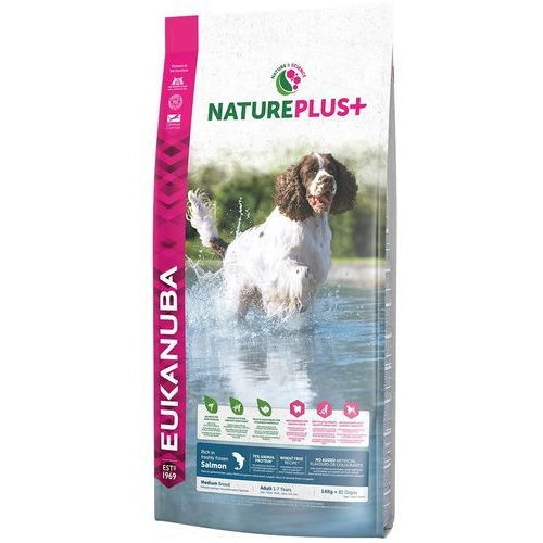 Eukanuba Nature Plus+ Adult Medium Breed Rich łosoś 14kg (8710255138671)