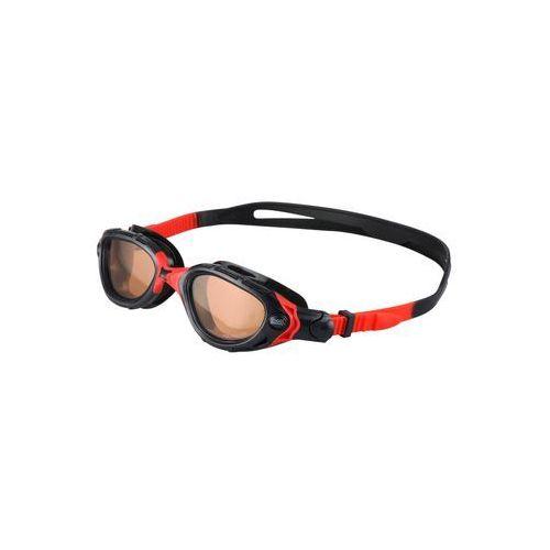 Zoggs PREDATOR ULTRA Okulary pływackie black/red z kategorii Okularki pływackie