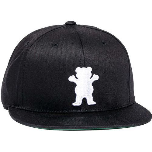 czapka z daszkiem GRIZZLY - Og Bear Snapback Black (BLK) rozmiar: OS, kolor czarny