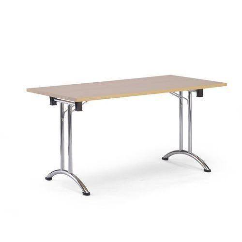 Stół składany, szkielet z podwójnego teownika z rurki stalowej z wygiętymi płoza