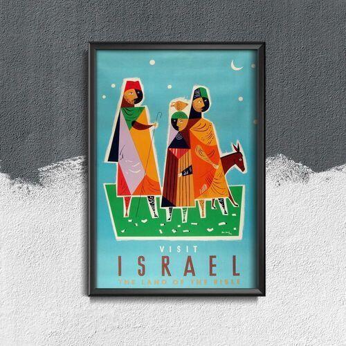 Plakat retro plakat retro izrael marki Vintageposteria.pl