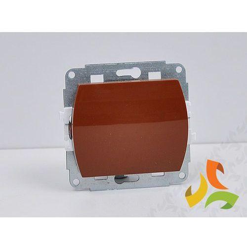 Wyłącznik pojedynczy podświetlany brązowy TREND z kategorii pozostała elektryka