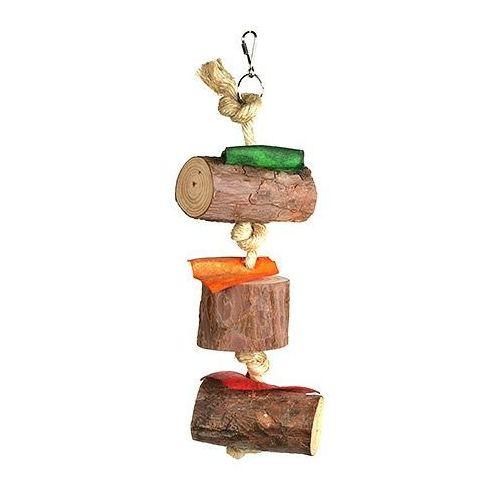 Naturalna zabawka dla ptaków z kawałkami drewna marki Hp birds