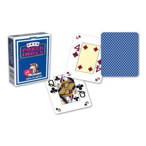 Modiano mini 4 rogi 100% karty plastikowe - ciemno niebieskie (8003080005363)