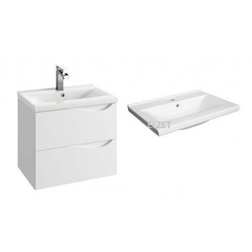 szafka murcia d60 biały połysk + umywalka barcelona 60 144-d-06004+2422 marki Defra