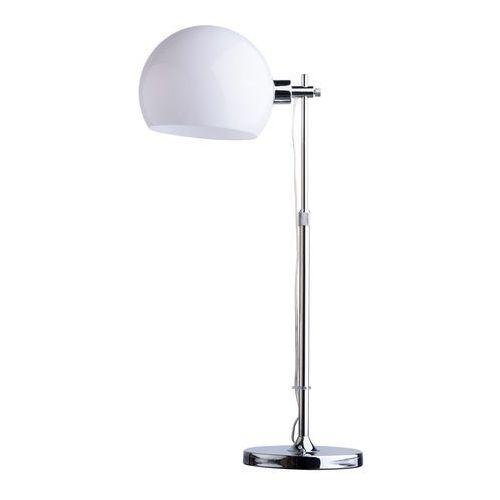 Stylowa lampka stołowa o regulowanej wysokości, biała kula (300032301) marki Mw-light