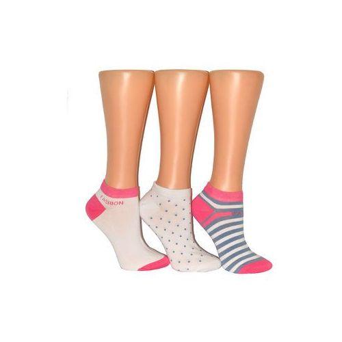 Stopki premium sox art.36312 damskie 39-42, biało-różowy, wik, Wik