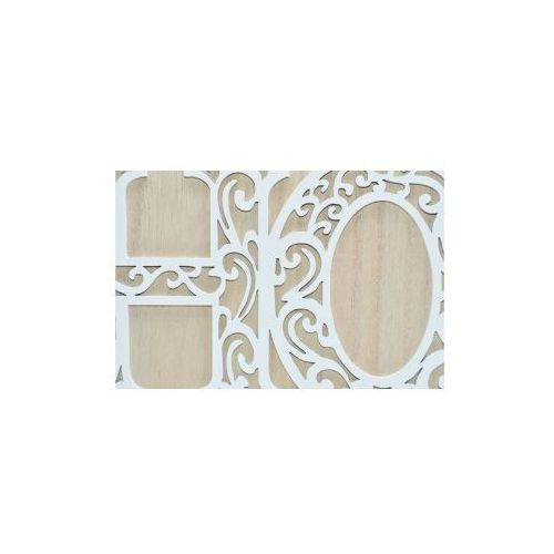 Pozostali Drewniany napis home biało - beżowy 42x4x13,5 cm