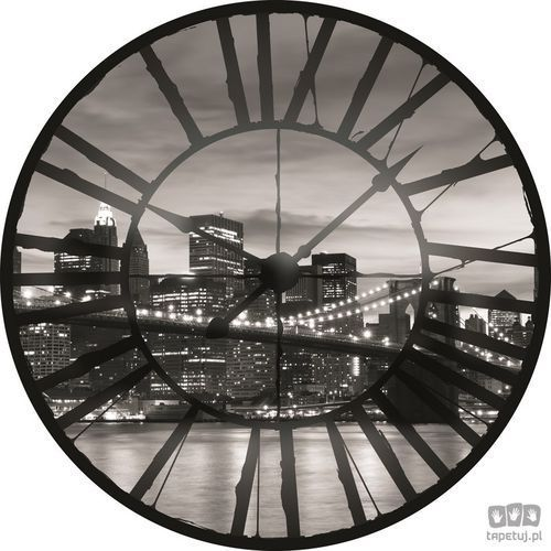 Consalnet Fototapeta widok przez zegar na brooklyn bridge black 624