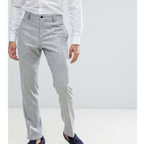 Noak slim wedding suit trousers in crosshatch - blue