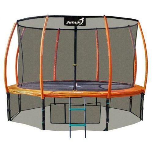 Trampolina ogrodowa z wewnętrzną siatką 374cm 12ft pomarańczowa marki Tima sport