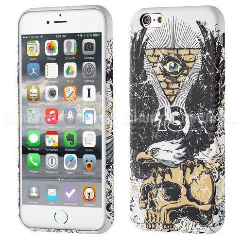WOZINSKY fluorescencyjny pokrowiec świecący w ciemności Wild Case iPhone SE 5S 5 skull eagle czarny - orzeł czaszka, kup u jednego z partnerów