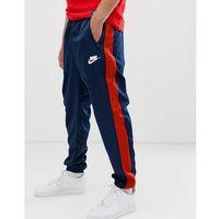logo sweatpants with side stripe navy - navy marki Nike