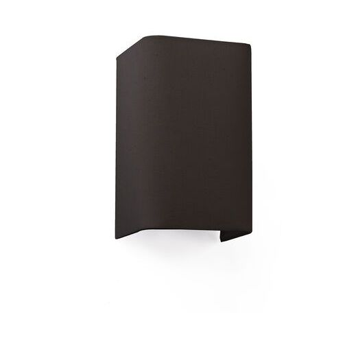 Faro barcelona Lampa ścienna cotton, kątowa, 20 x 12 cm, czarna