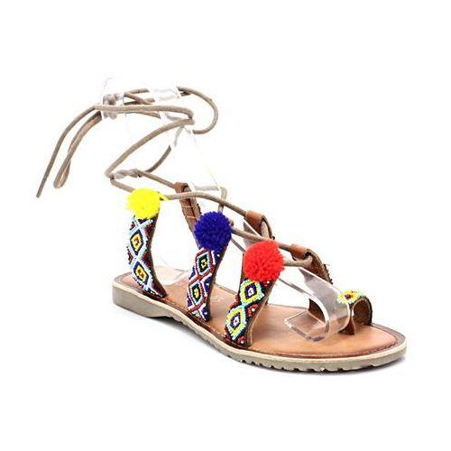 2-28128-28 multikolor - sandały z pomponami marki Marco tozzi