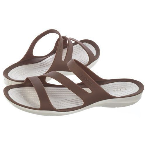 Klapki Crocs Swiftwater Sandal W Bronze/Oyster 203998-81F (CR120-f), kolor brązowy