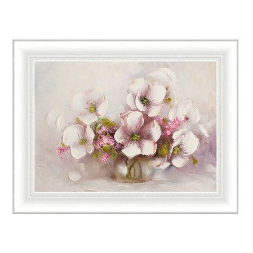 Obraz Białe róże malarstwo 50 x 70 cm (5901554524514)