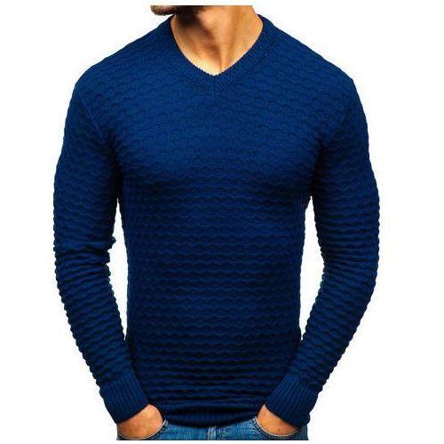 Sweter męski w serek granatowy denley 6005 marki ÇÖloĞlu collection