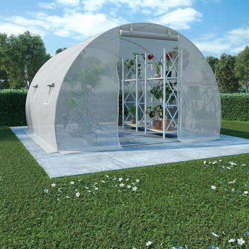 VidaXL Szklarnia ogrodowa, stalowa konstrukcja, 9 m², 300x300x200 cm (8719883609195)