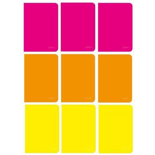 Zestaw 9 zeszytów rainbow a5 60k kratka - zestaw 2 marki Herlitz