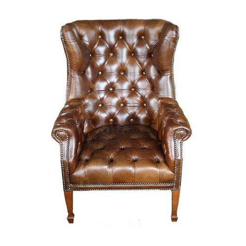 Fotel Prince skóra naturalna, tkanina, do salonu, do gabinetu