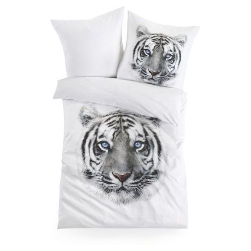 """Pościel dwustronna """"Tygrys"""" bonprix biały, kolor biały"""
