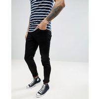 howells super slim fit jeans in black - black, Farah