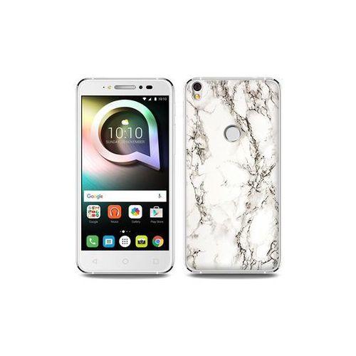 Alcatel Shine Lite - etui na telefon Fantastic Case - biały marmur