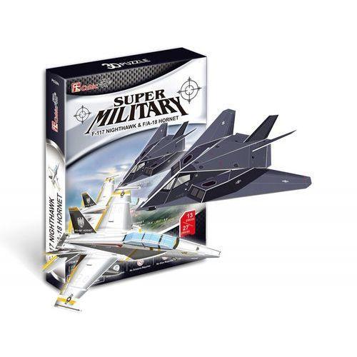 puzzle 3d 2w1 myśliwiec f117 nighthawk i myśliwiec fa18 hornet p629h marki Cubic fun