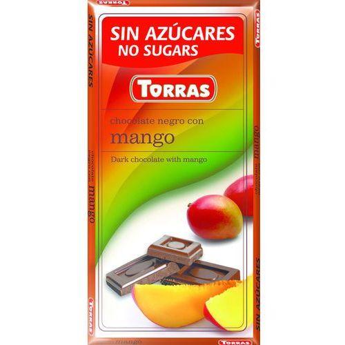 Czekolada gorzka z mango, bez cukru, bezglutenowa - 75g , Torras, 000436