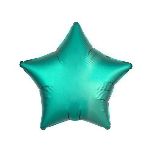 Balon gwiazda satynowy zielony 17'' 43cm marki Twojestroje.pl