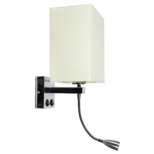 Candellux boho 21-58270 kinkiet lampa ścienna 1x40w e27 + led chrom / beż (5906714858270)