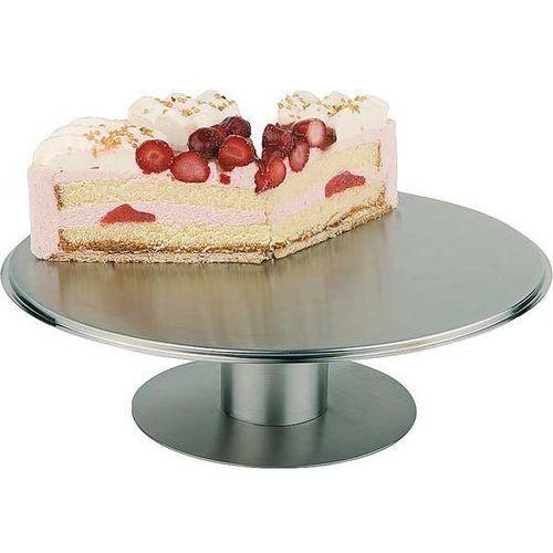 Aps Obrotowa patera ze stali nierdzewnej do tortów i ciast | śr. 305x(h)90mm