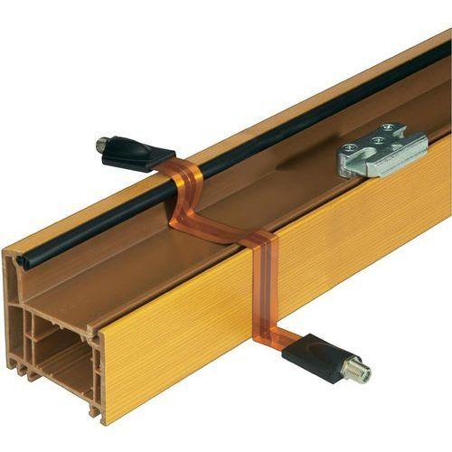 Przedłużacz SAT, Renkforce 11112C1A 11112C1A, [1x gniazdo F - 1x gniazdo F], 30 dB, 0.25 m, możliwość przepuszczenia przez okno, pozłacane styki, miedź