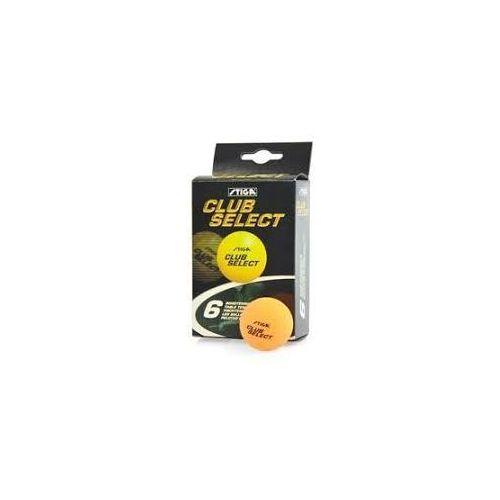 Piłeczki do tenisa stołowego club select 6szt. - pomarańczowy - pomarańczowy marki Stiga