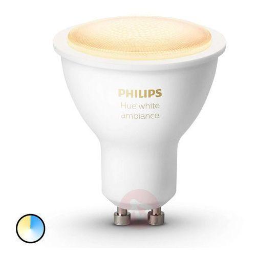 LED Żarówka ściemnialna Philips HUE WHITE AMBIANCE 1xGU10/5,5W/230V (8718699628673)