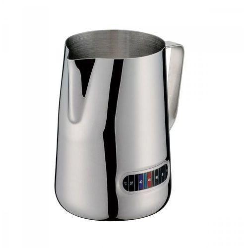 Cilio Stalowy dzbanek do podgrzewania mleka, z termometrem, śred. 10 x 13,5 cm, 1,0 l