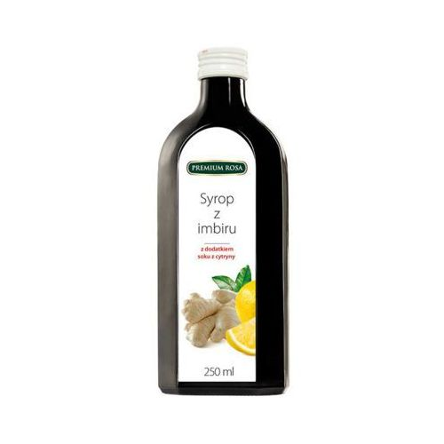 250ml imbir syrop z dodatkiem cytryny o niższej zawartości cukru marki Premium rosa