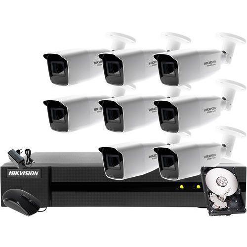 Prosty monitoring apteki, parkingu Hikvision Hiwatch HWD-7108MH-G2, 8 x HWT-B340-VF, 4TB, ZM12901