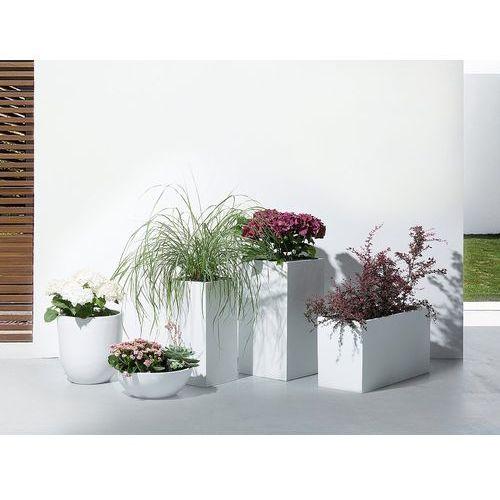 Doniczka ozdobna 38 x 38 x 70 cm biała WENER (4260624114330)