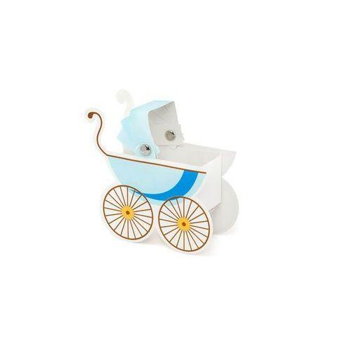 Pudełeczka dla gości wózeczek błękitny - 10 szt. marki Party deco