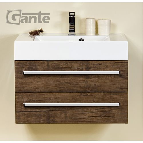 Szafka wisząca z umywalką 70/50/2 ufks seria fokus ad marki Gante