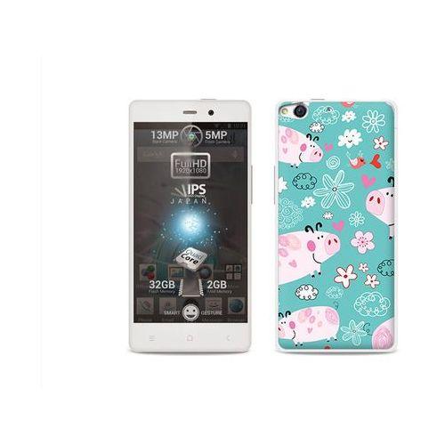 Fantastic Case - Allview X1 Soul - etui na telefon Fantastic Case - różowe świnki (Futerał telefoniczny)