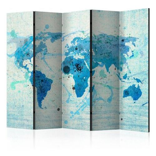 Parawan 5-częściowy - cruising and sailing - the world map ii [room dividers] marki Artgeist