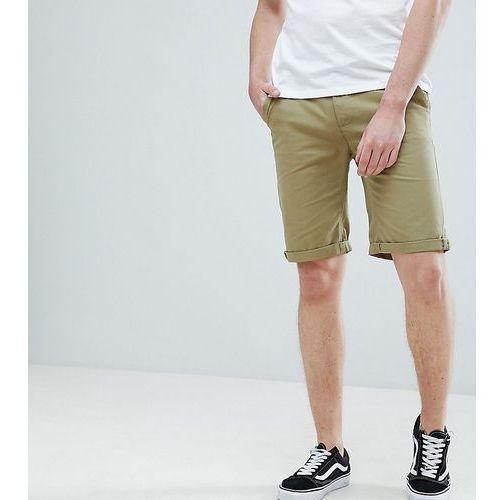 tall slim fit chino shorts in khaki - green, Bellfield