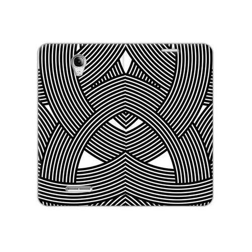 Alcatel pop 4 - etui na telefon flex book fantastic - biało-czarna mozaika marki Etuo flex book fantastic