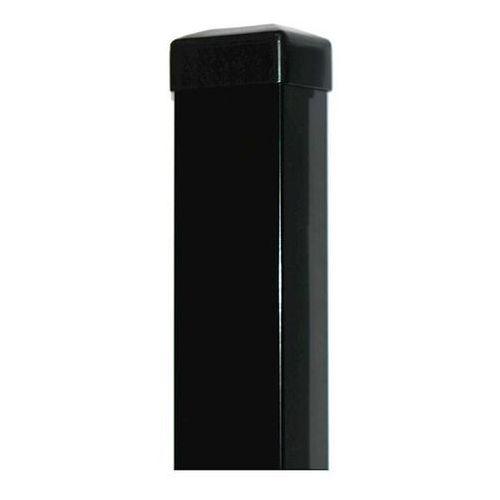 Słupek ogrodzeniowy czarny 60x40 mm H2000