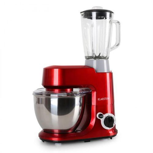 Klarstein carina rossa zestaw 800w robot kuchenny plus 1,5l dzbanek, blender (4260365799872)
