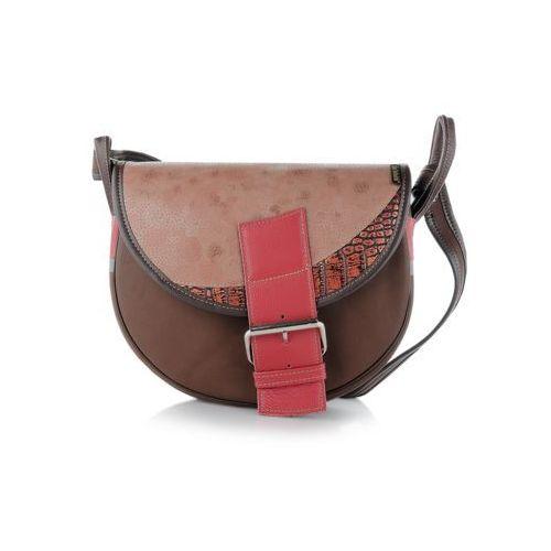 b5599ee8ab3ab Freshman mini torebka skórzana na ramię brązowa marki Słoń torbalski