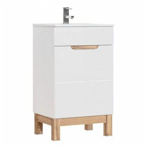 Szafka pod umywalkę Marsylia 3X 50 cm - Biały połysk, kolor biały